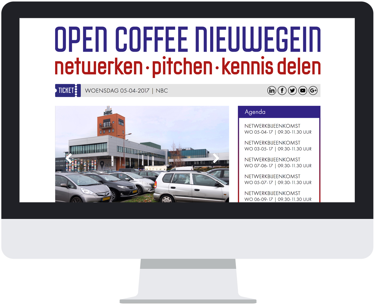 Open Coffee Nieuwegein website