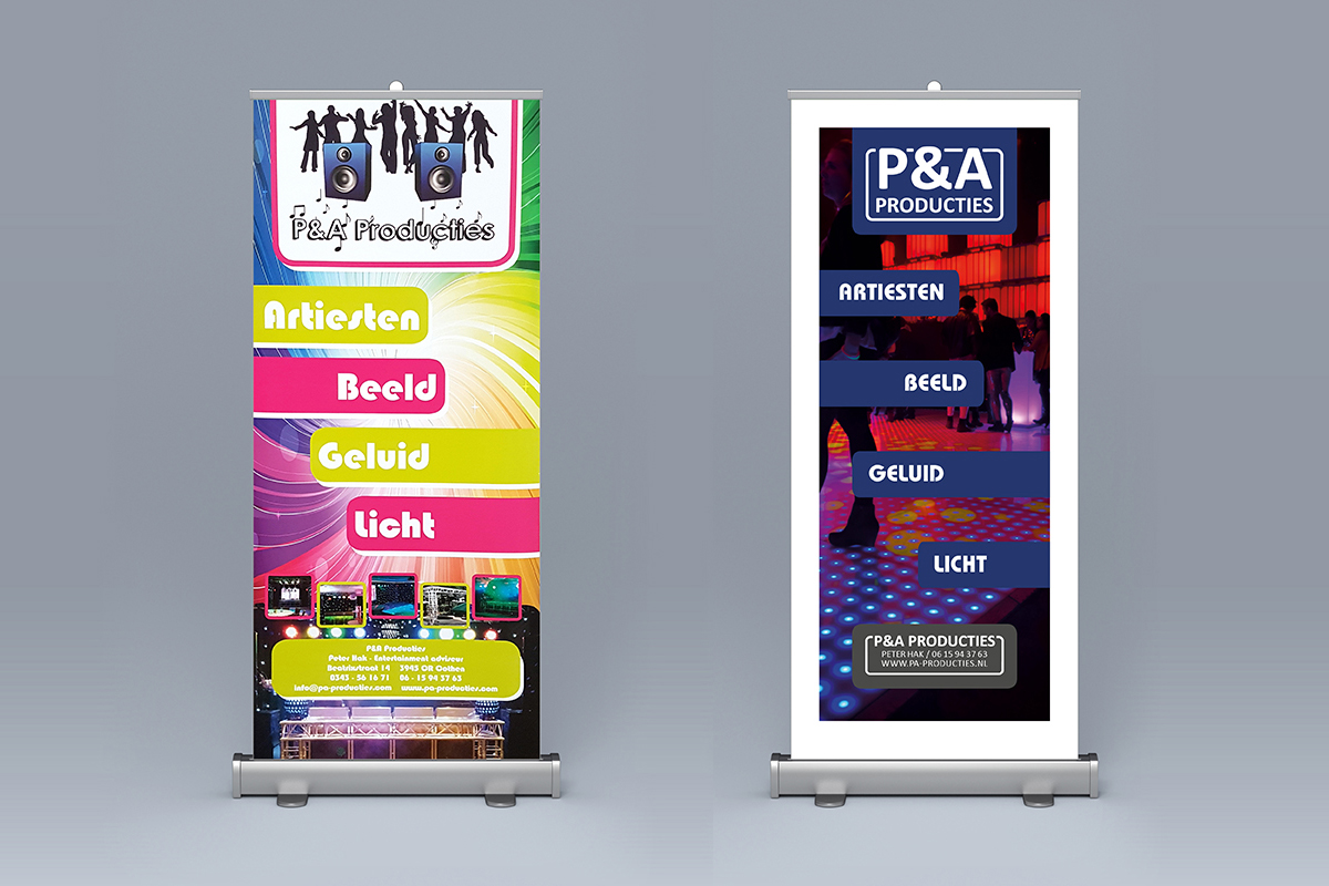 p&a producties banner